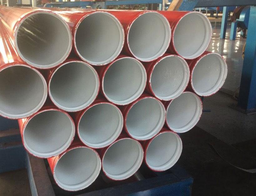 给水涂塑钢管沟槽连接后用水冲洗的要求